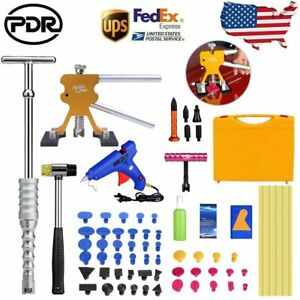 71x Pdr Repair Tools Kit Paintless Dent Removal Line Board Glue Gun Slide Hammer