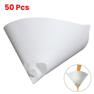 50pcs Filters Purifying Cup Micron Conical Nylon Paper 100 Mesh Paint Strainer