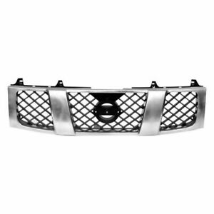 Front Grille Chrome Shell With Black Insert Fits 2004 07 Nissan Titan Ni1200210