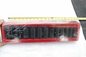 New Snap On 312ims 12 Piece 1 2 Drive Semi Deep Impact Sockets Sae 6 Point