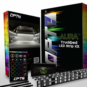 Opt7 Aura Waterproof Led Strip Light Truck Bed Rgb Remote Full Multicolor White