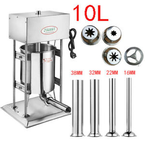 Commercial Electric Sausage Stuffer Stainless Steel Meat Filler Machine 110 220v