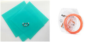 Dental Rubber Dam 36 Sheets Green Adult Latex Stabilizing Cord Medium Orange