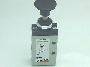 Camozzi 338 910 3 2 Bi Stable 1 8 Bsp Manual Push 2 Position Pull panel Mount