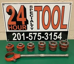 Ridgid 12 r Manual Pipe Threader Exposed Ratchet Die Dies Set 12r 700 300 1
