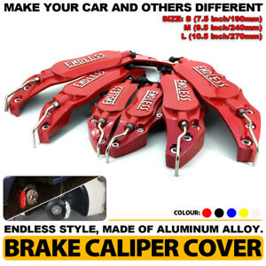 Endless Brake Caliper Cover Red Style Disc Universal Car Front Rear Kit L m s