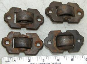 Cast Iron Casters Heavy Duty Countersunk Set Of 4 Antique Furniture Hardware
