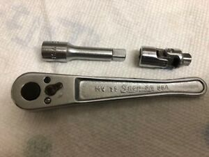 Vintage Snap on 1 4 Drive Mv 71 Ratchet And Accessories