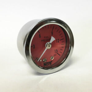 Nos 1 5 Direct Mount Low Pressure Fuel Pressure Gauge 0 15 Psi New Old Stock