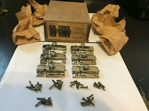 6 Nos Antique Art Deco Nickel Plate Brass Hoosier Cabinet Cupboard Door Latch