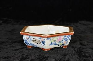 Antique Chinese Japanese Multicolored Porcelain Flower Pot 19th C