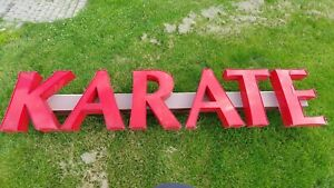 Red Led Karate Sign Business Commercial