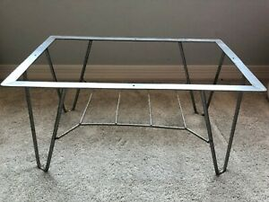1950s Vintage Original 24 X 14 Wrought Iron Mid Century Modern Hairpin Table