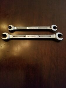 Snap On 3 8 7 16 1 2 9 16 Flare Nut End Wrenchs Lot Of 2