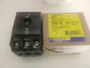 Square D Qob 3 Pole 100a Breakers