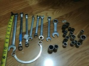 Snap On Tools Mac Matco Gearwrench Lot 29 Mixed Socket Sockets Wrenches