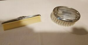 Small Sterling Silver Baby Hair Brush And Comb