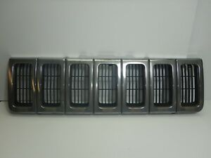 Jeep Grand Cherokee Zj 96 98 Chrome Front Grill Grille Free Ship