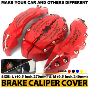4 Pcs Red Brake Caliper Covers Style Disc Universal Car Front Rear Kit L m Cy03
