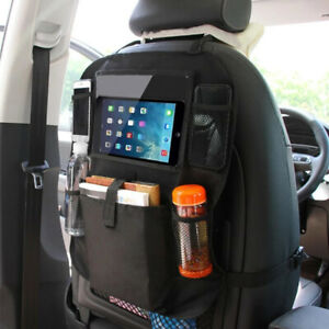Car Back Seat Organizer Multi Pocket With Touch Screen Tablet Holder Storage Bag