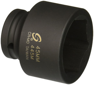 Sunex 445m 3 4 Drive Standard 6 Point Metric Impact Socket 45mm