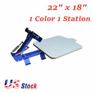 1 Color 1 Station Manual T shirt Silk Screen Printing Machine Diy Screen Printer
