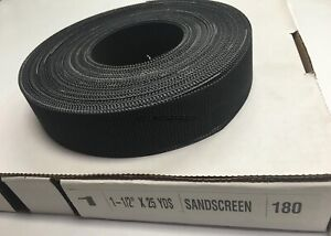 1 1 2 X 25 Yards Production Abrasives 180 Grit Sand Screen Roll