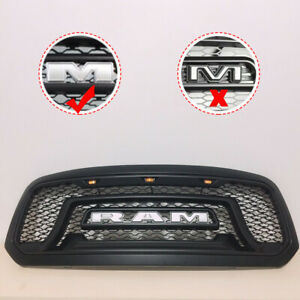 Black Abs Grill Fit For 2013 2014 2015 2016 2017 2018 Dodge Ram 1500 Grille B