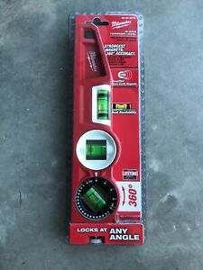 Milwaukee 48 22 5210 Torpedo Level 10 l 3 Total Vials