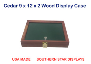 Cedar 9 X 12 X 2 Wood Display Case For Arrowheads Knives Collectibles Coins