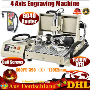 6040 Engraving Machine 4 Axis Engraver Milling Cnc Router Woodworking 1 5kw Vfd