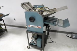 Baum 714 Air feed Paper Folder 14x20 Baumfolder Like Duplo Mbm Formax