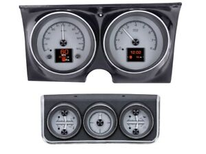 1967 Chevy Camaro W console Gauges Hdx System Silver From Dakota Digital