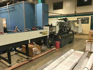 Hydmech Cnf400 Cnc Automatic Vertical Column Cold Saw W 12 bar Feeder Outfeed