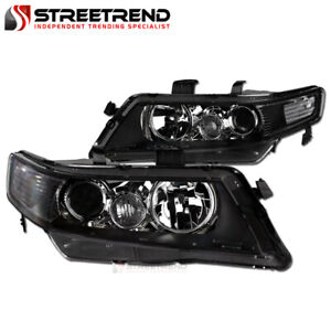 For 2004 2008 Acura Tsx Black Clear Housing Projector Headlights Corner Signal