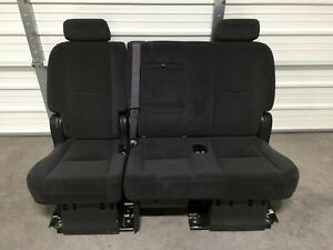 2007 2014 Suburban Escalade Esv Yukon Xl 2nd Second Row Black Cloth Bench Seat
