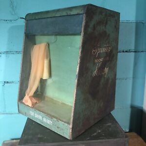 Vtg Store Counter Display Show Case Spuntex Hosiery Stocking Illuminated Antique