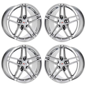 18 19 Corvette C6 Z06 Pvd Chrome Wheels Rims Factory Oem 5090 5107 Exchange