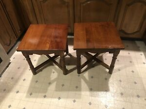 A Pair Of Stickley Solid Cherry End Tables