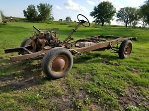 1949 53 Studebaker 1 2 Ton Truck Chassis Frame Engine Transmission Rear Diff 50