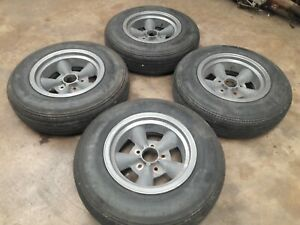 Torque Thrust Style Vintage Mag Wheels Rims Et Set Of 4 Ford Chevy Mopar J15684