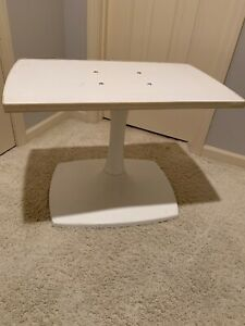 Mid Century Space Age Gusdorf Tulip Base Tv Stereo Stand White Swivels