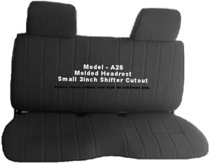 Custom Fit Triple Stitched Thick Small Pickup Truck Bench Black Seat Cover