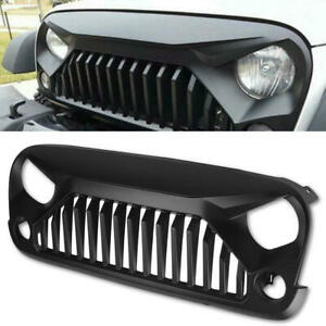 Front Grill Grille For Jeep Wrangler 2007 2017 Jk Unlimited Black Angry Bird