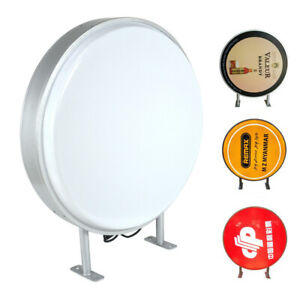Double Sided Outdoor Round Illuminated Projecting Light Box Sign Led 24