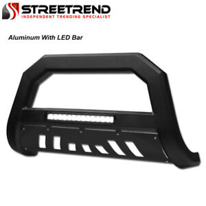 For 2011 2015 Ford Explorer Matte Black Avt Aluminum Led Bull Bar Bumper Guard