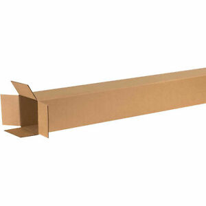 6 X 6 X 72 Tall Cardboard Corrugated Boxes 65 Lbs Capacity 200 ect 32 Lot
