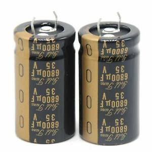 2pcs Nichicon Kg Gold Tune 6800uf 35v Electrolytic Capacitors Good For Amplifier