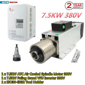 7 5kw 380v Atc Automatic Tool Change Spindle Air Motor Iso30 24000rpm