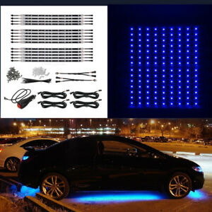 14x Blue Car Truck Underglow Under Body Neon Accent Glow Led Light 12 Strip Bar